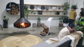 """""""The fireplaces are available in Melbourne, but they're not showcased here in Adelaide, so our main drive is to bring Tait furniture from Melbourne and fireplaces from Europe to this environment so people in Adelaide can get access to these amazing products,"""" says Black Lime Showcase Manager, Jahnava Taylor."""