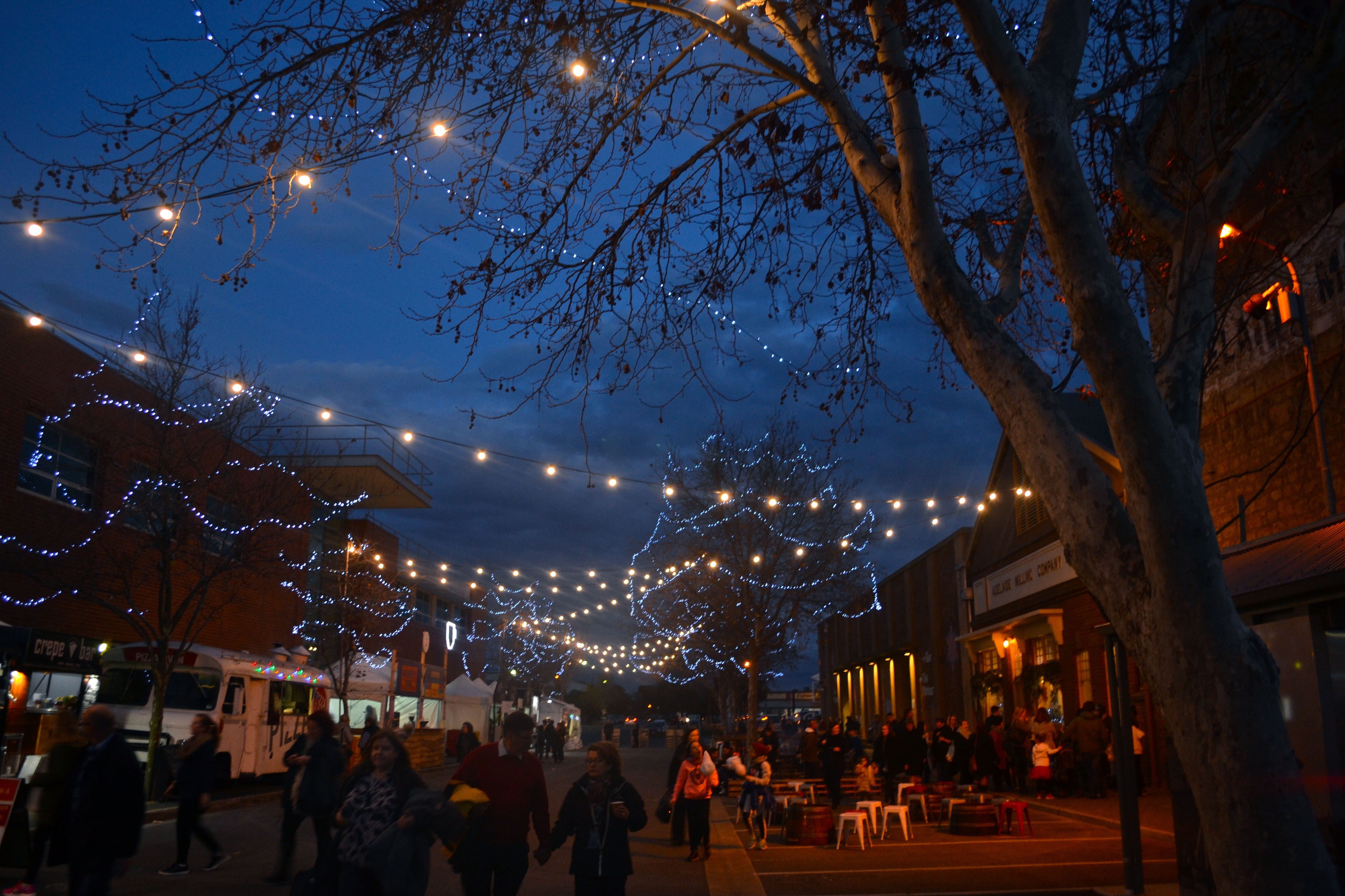 Food trucks and fizzing fires at Winterfest.