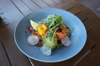Tasmanian Smoked Salmon and Corn Fritters