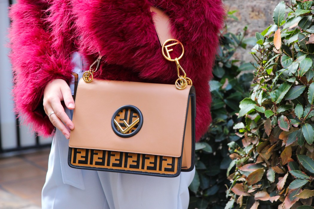 Fendi Kan I Nappa Shoulder Bag