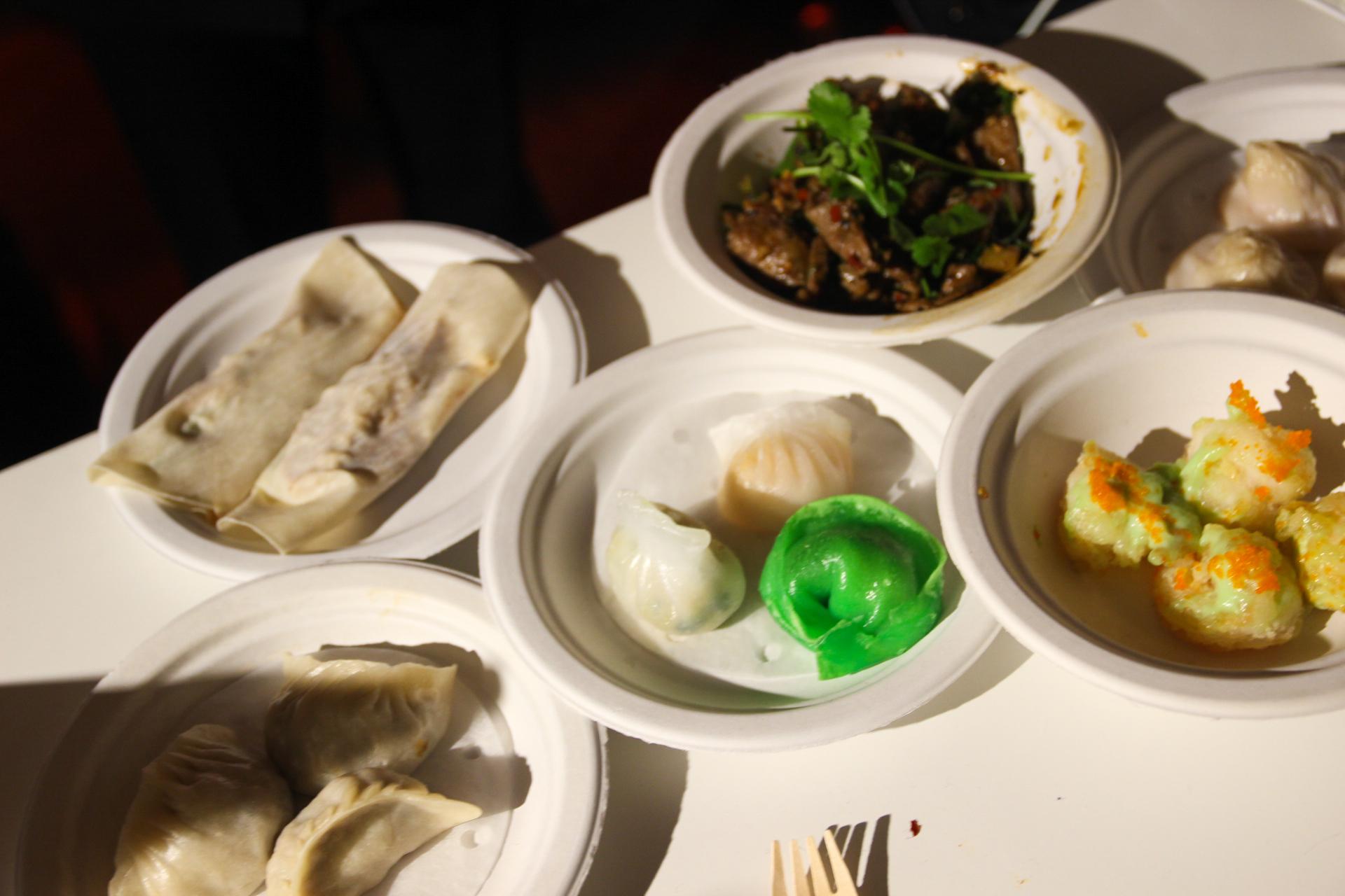 dumplings at taste of london