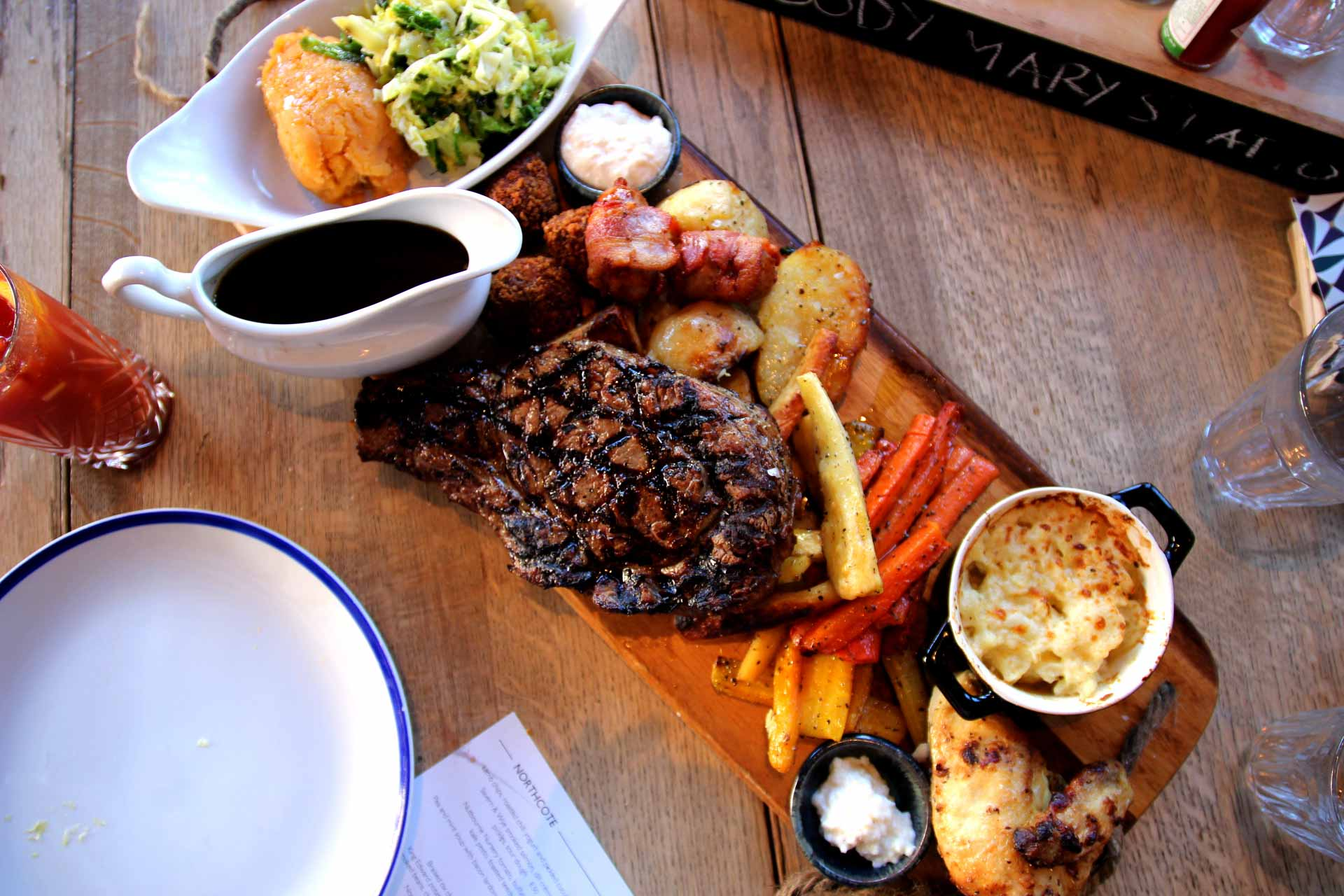 sunday roast at the northcote pub