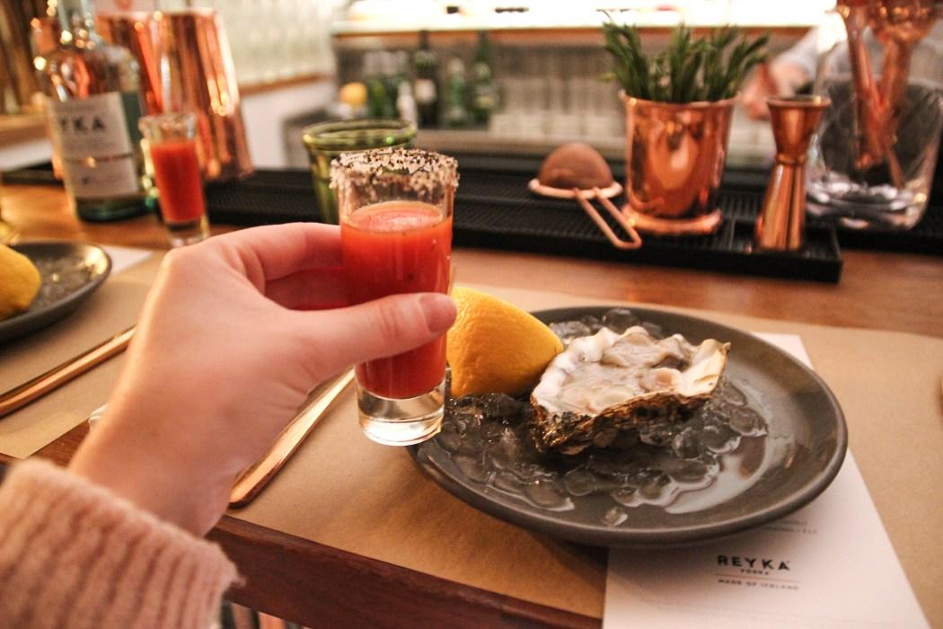 reyka vodka menu at bucket london