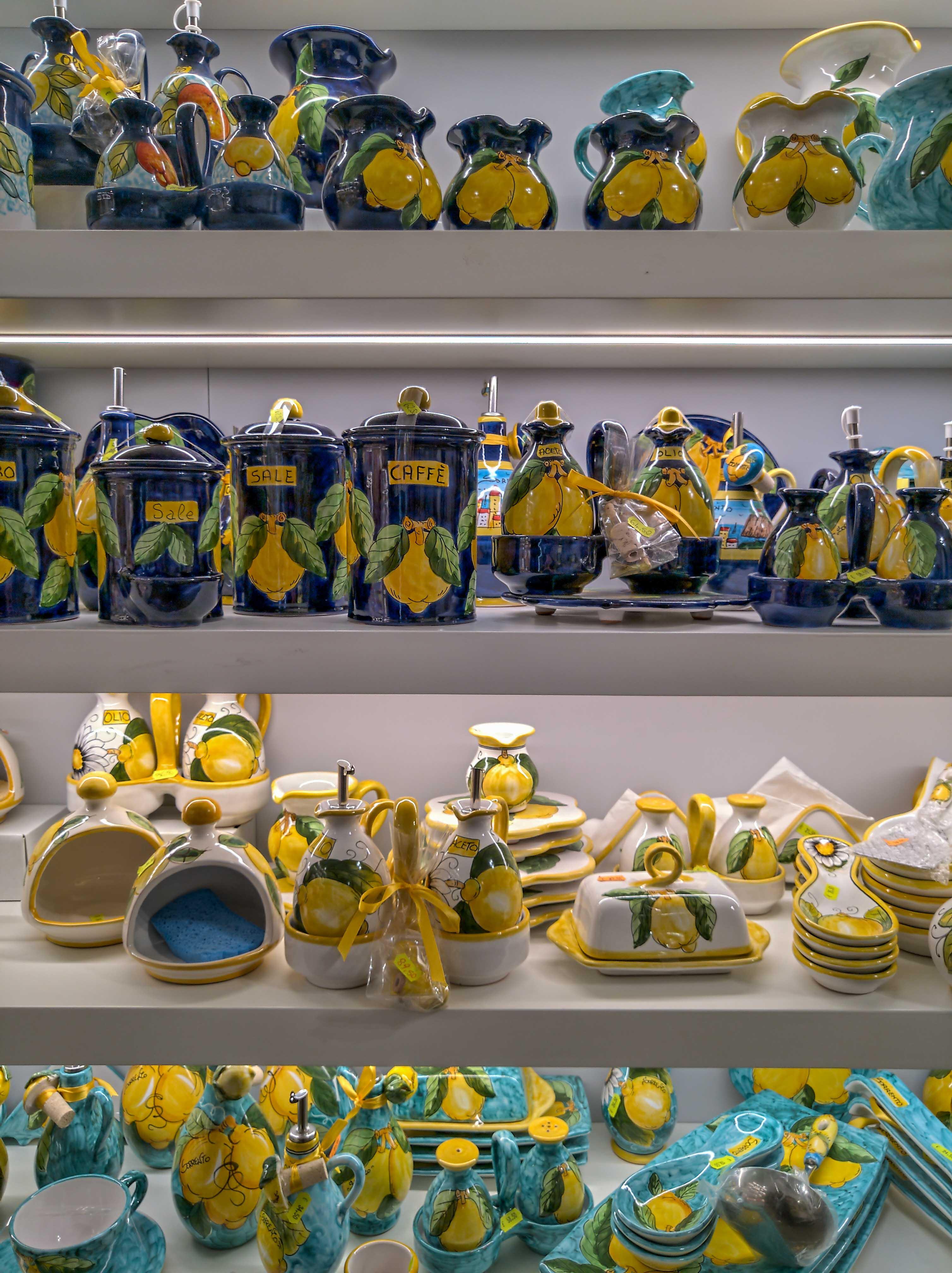 ceramics in sorrento amalfi coast