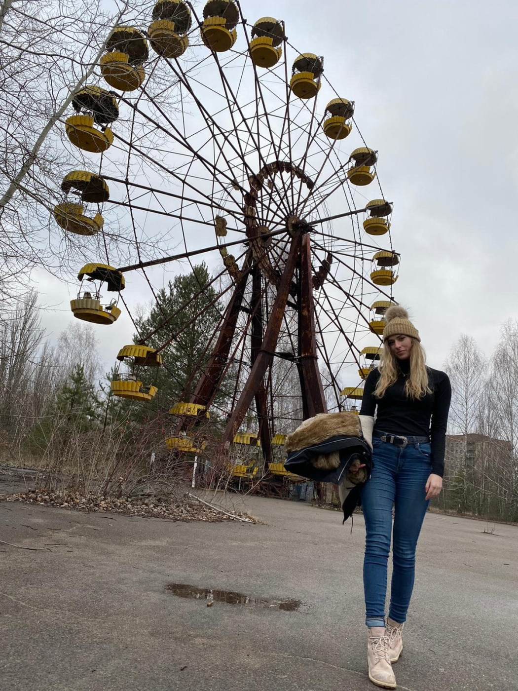 Chernobyl Ferris Wheel, Chernobyl in Winter