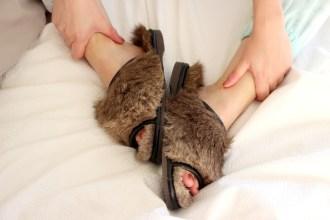 Karmine Leather Slippers