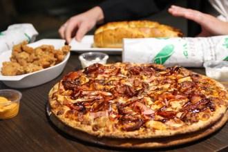 6 Meats Pizza Manoosh Pizzeria