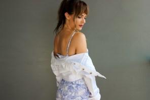 Femme Luxe White Denim Jacket