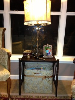 Living room side table from Hobby Lobby