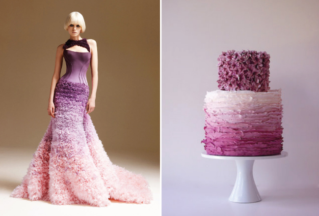 Fashion Inspired Wedding Cakes (5/6)