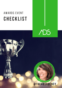 ADS Awards Show Checklist