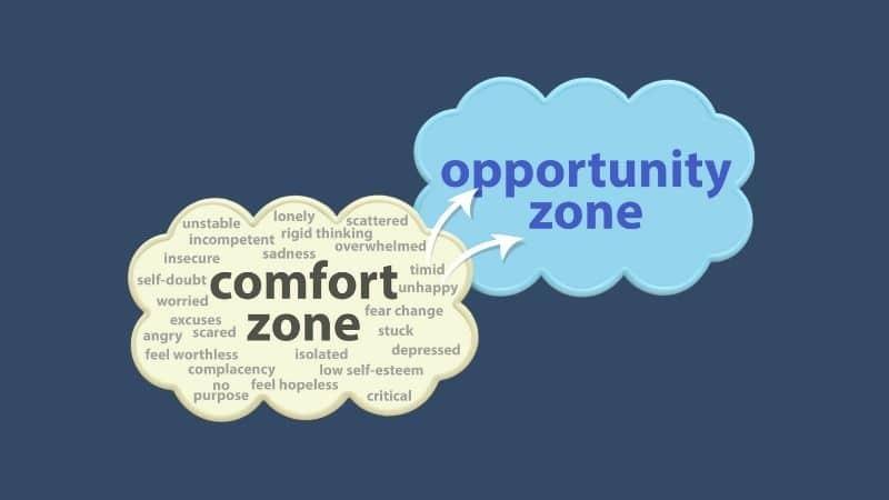 Comfort Zone vs Opportunity Zone Graphic