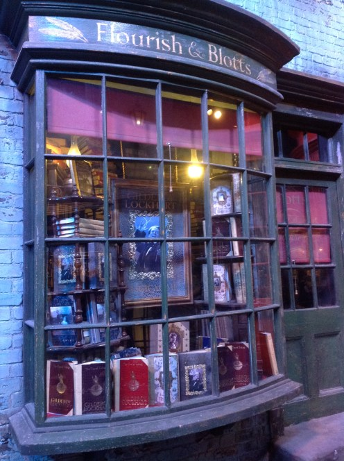 Harry Potter Studio Tour London Diagon Alley Florish & Blotts Gilderoy Lockhart image