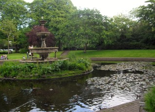 Cork Ireland Fitzgerald Park pond