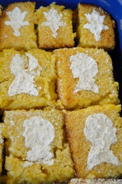 Rosemary lemon bars with bbc sherlock sugar silhouettes
