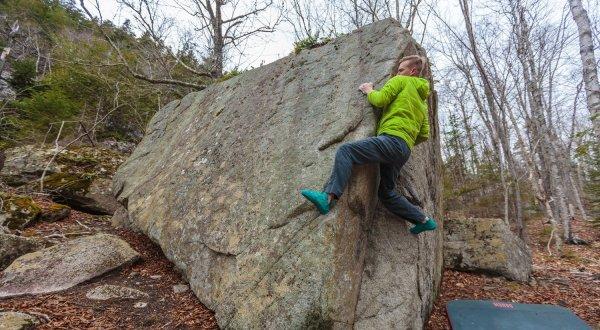 Bouldering Rock Climbing