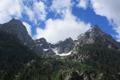 The Tetons from the Cascade Canyon Trail