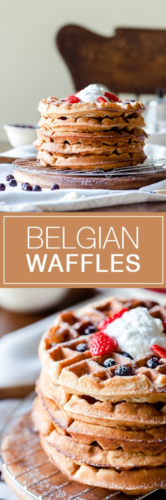 Belgian Waffles - Classic recipe for a delicious brunch.