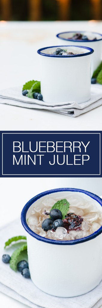 Blueberry Mint Julep - Anything with Bourbon is good in our books!