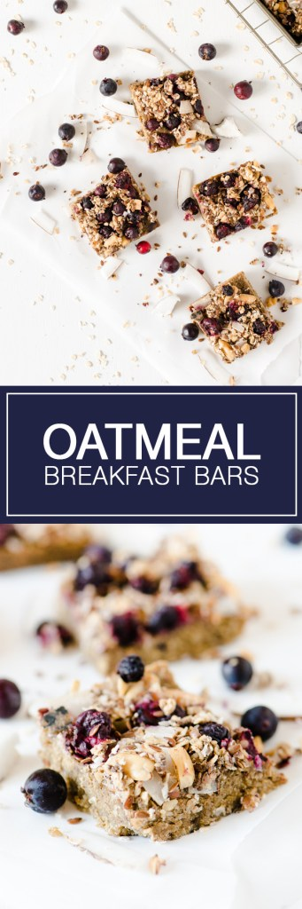 Oatmeal Breakfast Bars - These are great for mornings when you're in a hurry!