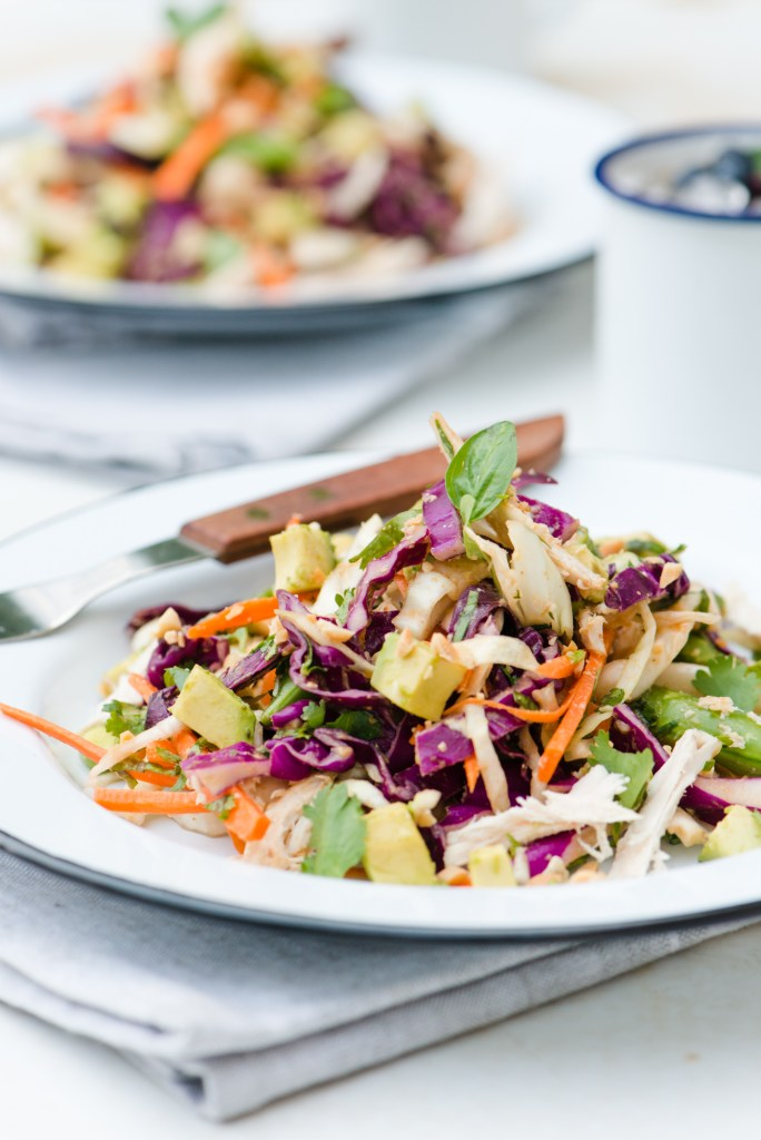 The Adventures of Bob & Shan - Crunchy Cabbage Salad with Spicy Peanut Dressing
