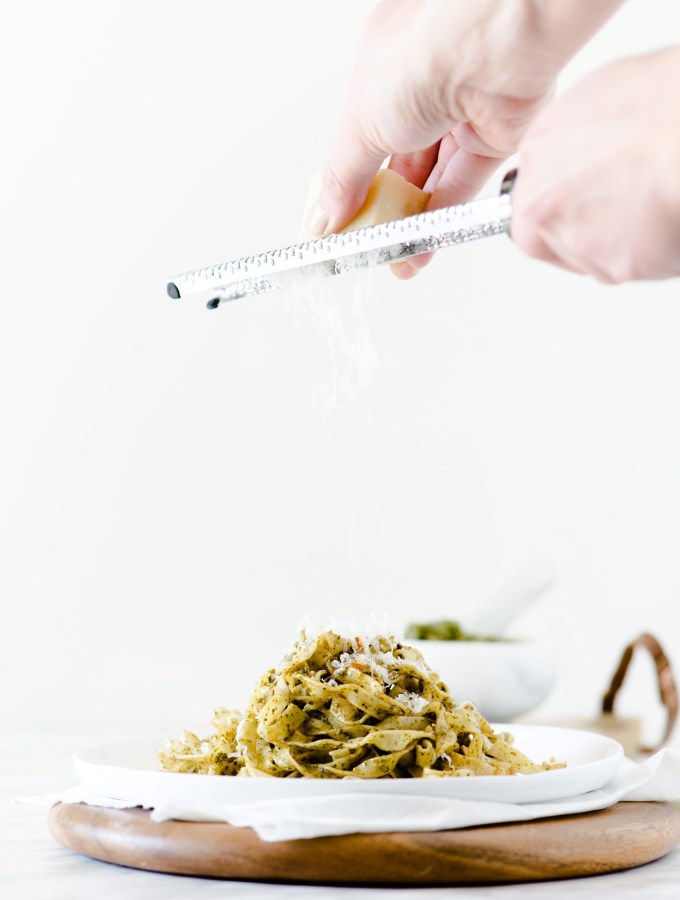 Pesto & Almond Fettuccine