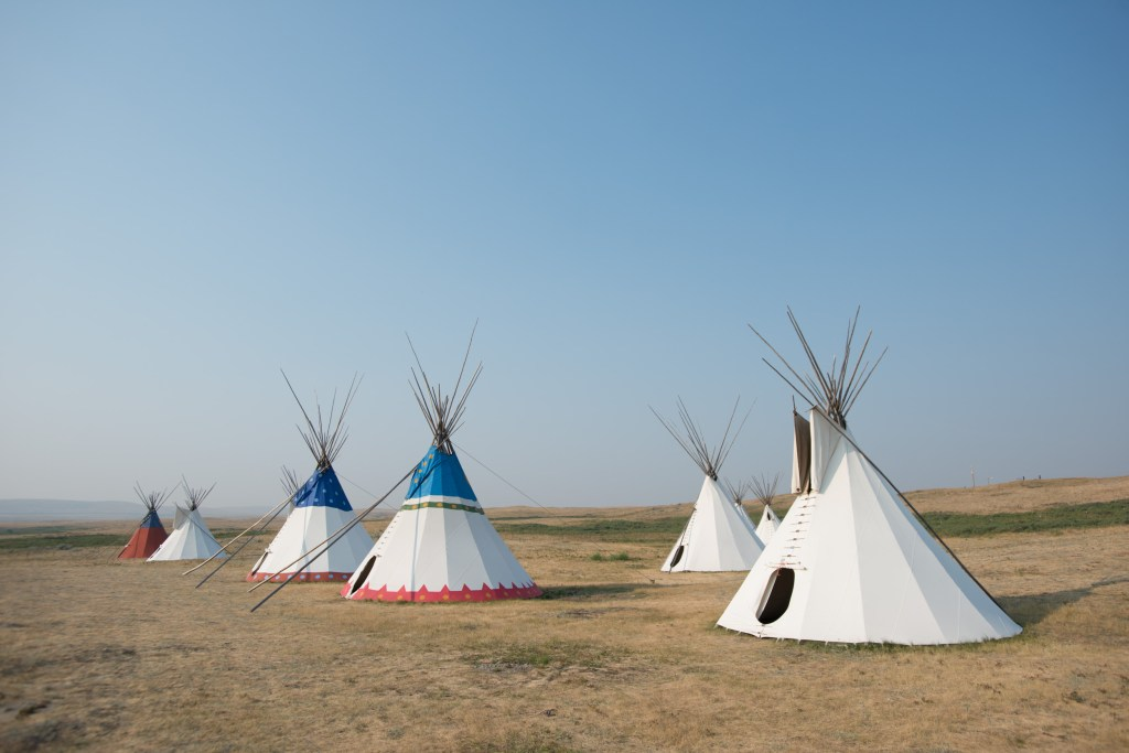 Lodgepole Tipi Village in Browning, Montana.