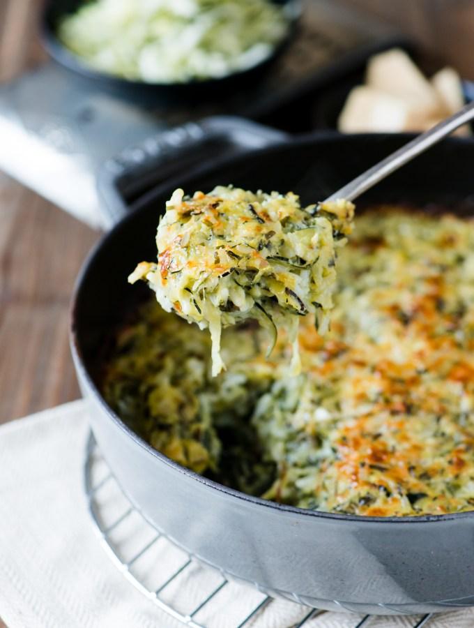 Zucchini & Wild Rice Gratin
