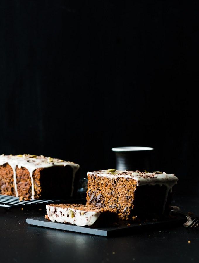 Kabocha, Olive Oil, & Bittersweet Chocolate Cake