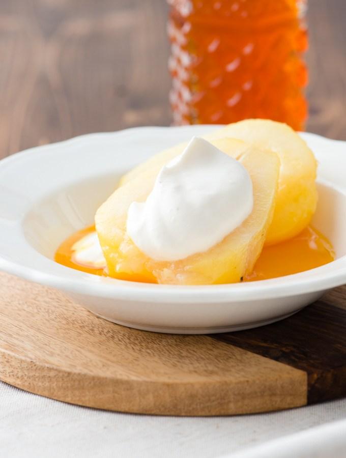 Cardamom & Saffron Poached Pears