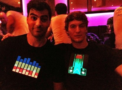 The boys in their rave t-shirts