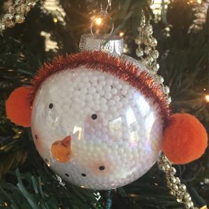 handmade snowman christmas ornament