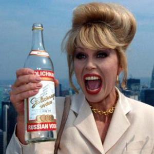 drunk woman drinking vodka