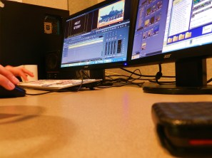 Editing the NBC national packages for local air -- how much time he has dictates how picky is about fixing the audio