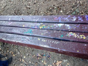 Bench at Viretta Park