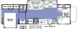 The Adventure Travelers RV 3010DS Layout