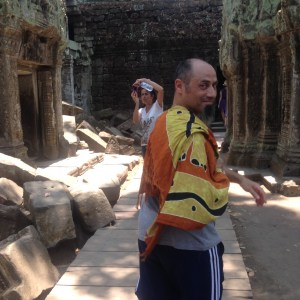 Mick enjoying the temples