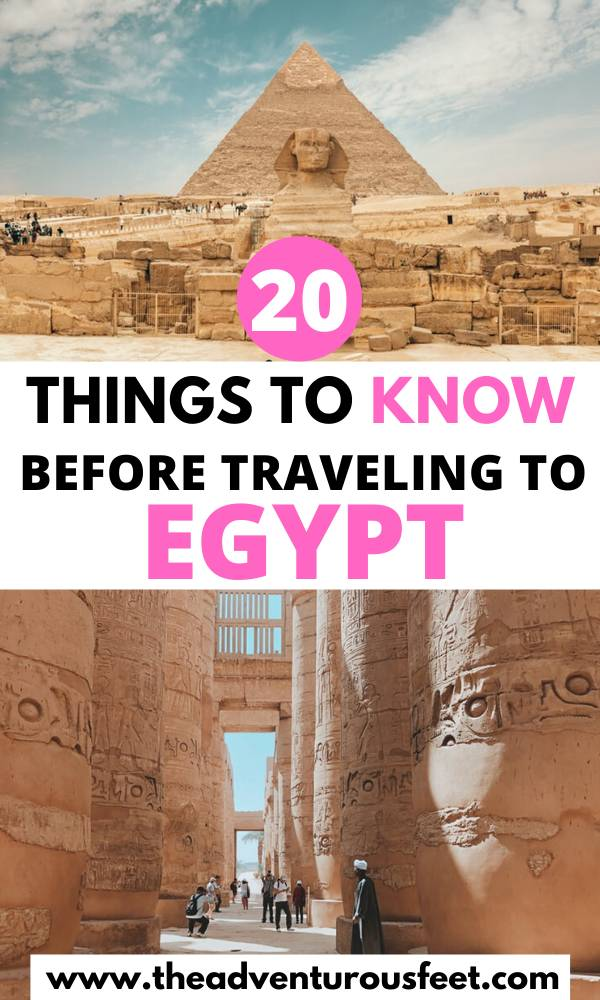 Traveling to Egypt? Here is everything you need to kknow before you go.   Things to know before traveling to Egypt   egypt rules for tourists  Egypt travel tips   the ultimate guide to traveling to Egypt  advice for visiting Egypt   tips for visiting Egypt   travel tips for egypt  what to pack for Egypt   what to know before going to Egypt  travel guide to Egypt #egypttraveltips #traveltipsforegypt #tipsforvisitingegypt #theadventurousfeet