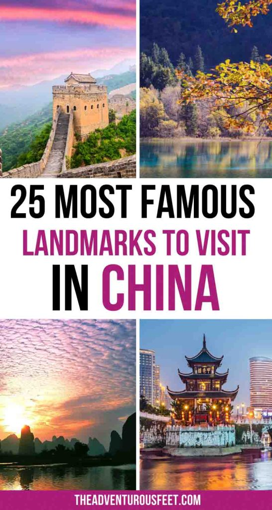 Traveling to China and looking for places to visit? Here are the most famous landmarks in China that you shouldn't miss. From Chinese monuments to the natural wonders of China, these are the must-see places.| famous monuments in China| China landmarks not to miss| famous buildings in China| Historical sites in China|famous landmarks of China| Famous Chinese monuments| Chinese famous landmarks| famous Chinese landmark| natural landmarks in China| Chinese famous buildings| famous places in China