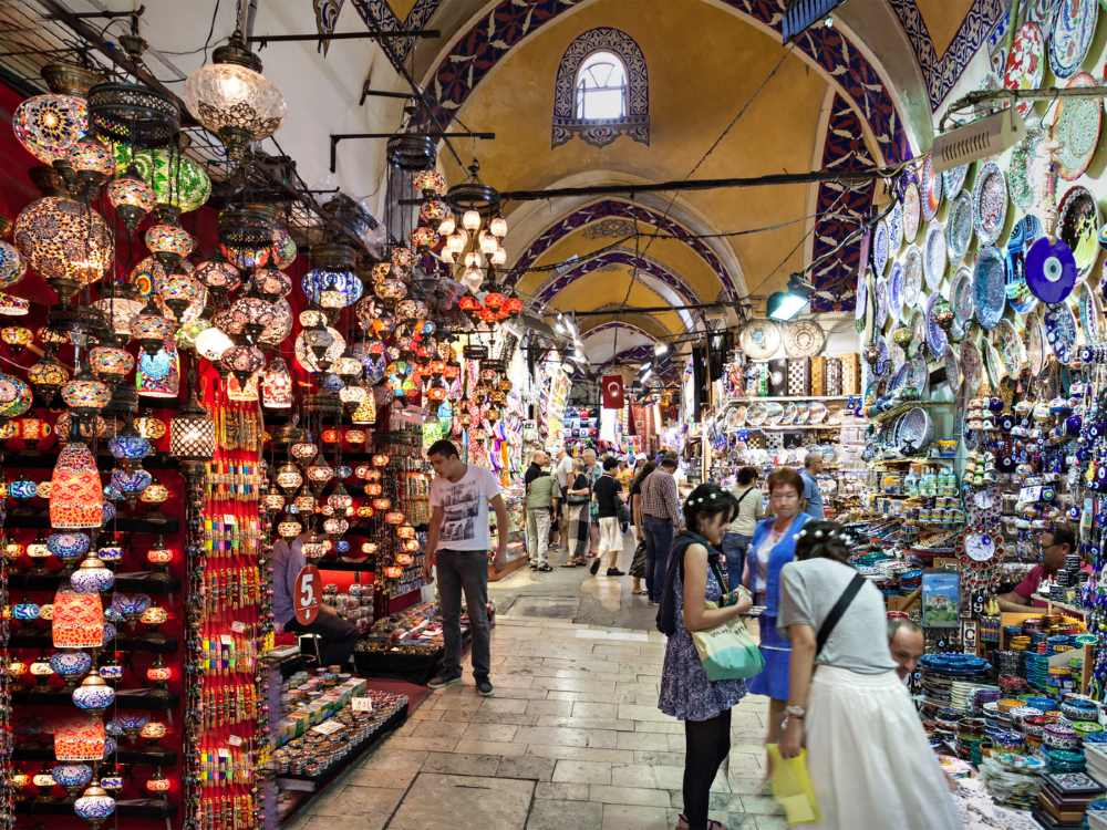 Shopping at the Grand bazaar is one of the things to do in Istanbul at night