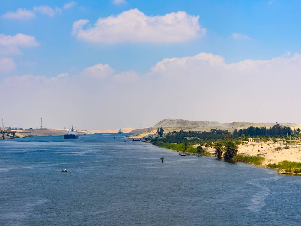 Suez Canal  is one of most important human-made landmarks in Egypt