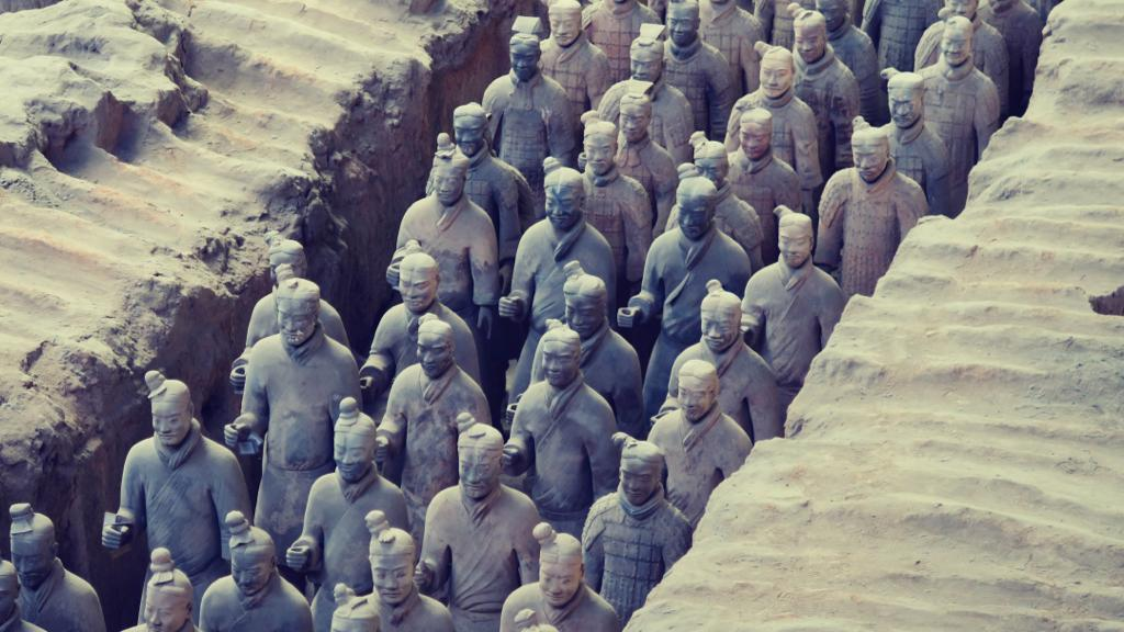 The Terracotta Army is one of the famous monuments in China
