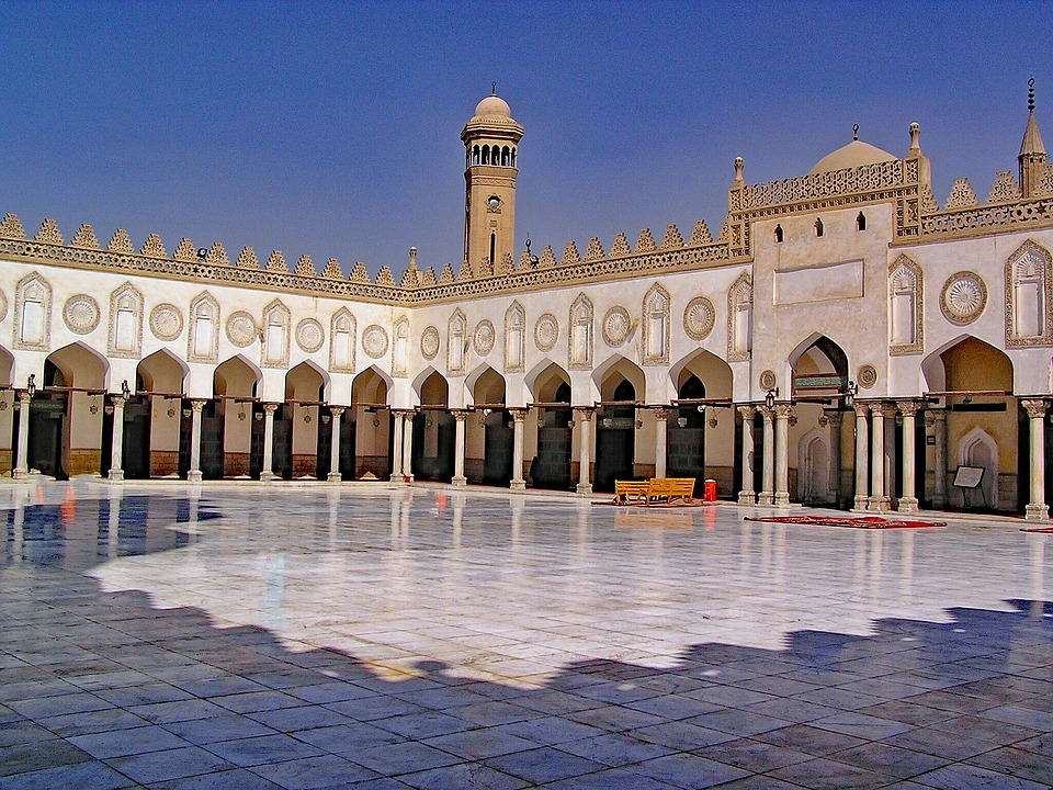 al-azhar mosque is one of the places to go in cairo