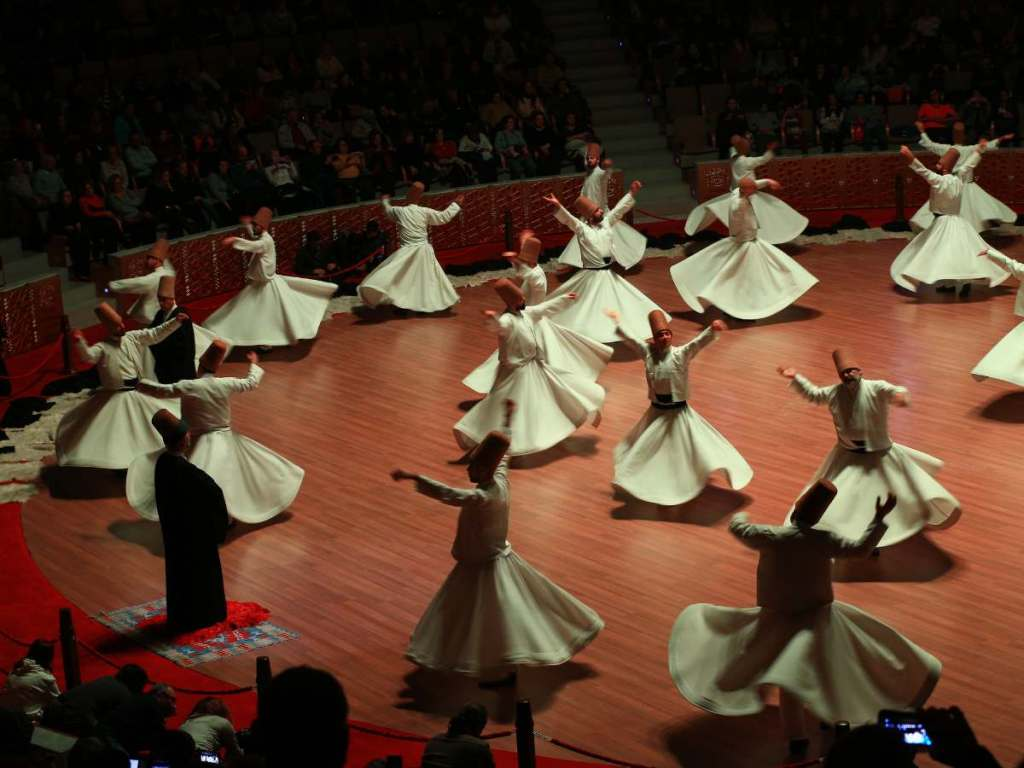 Watching a whirling dervish show is one of the best ways to spend a night in Istanbul
