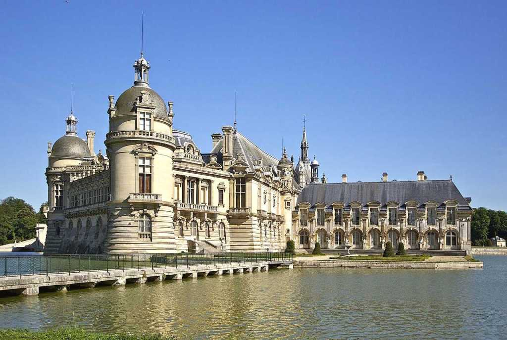 chateau chantilly is one of the most beautiful castles in france