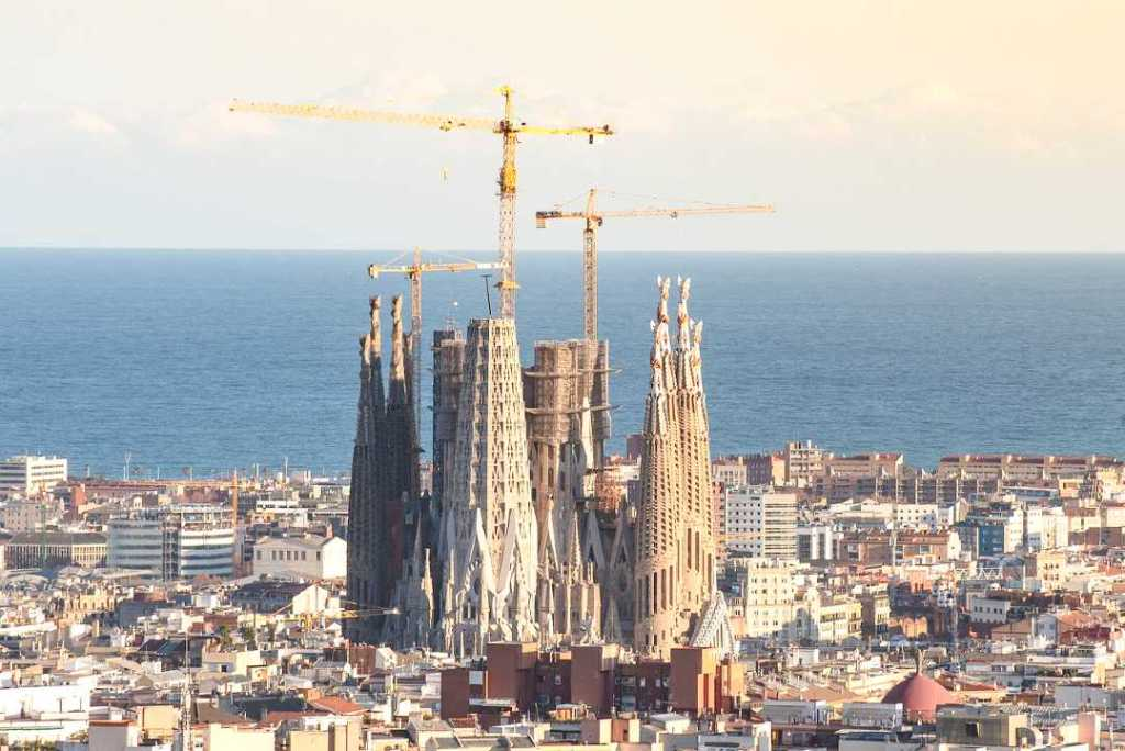 La Sagrada Familia is one of the famous monuments in Europe