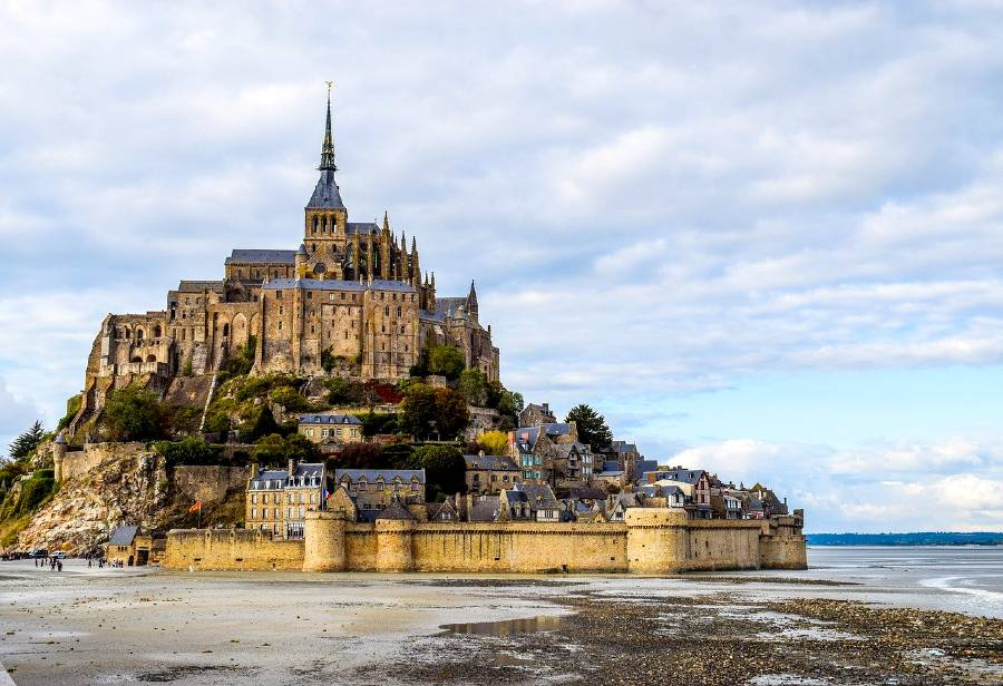 Mont Saint Michel in Normandy is one of the famous landmarks of Europe