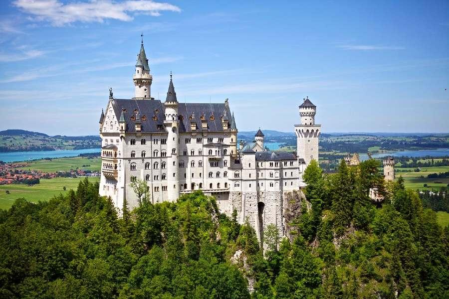 Neuschwanstein Castle is a landmark of Europe