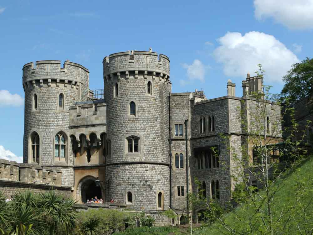 Windsor Castle in Windsor is one of the famous places in Europe
