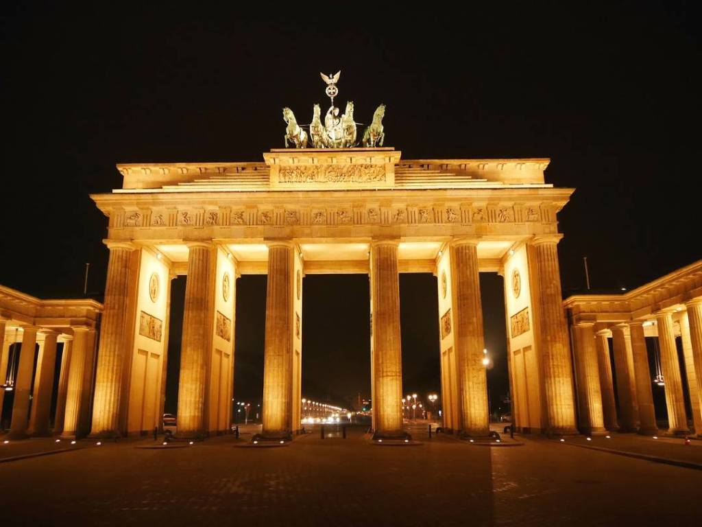 Brandenburg Gate in Berlin is one of the historical sites in Europe